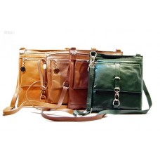 Kožené italské kabelky menší BR222 hnědá již není