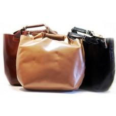 Italské kabelky kožené hladká kůže proplétaná ucha jen béžová BR327