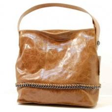 Italská kabelka kožená mramorová patina camel řetízek eloksovaný BR545 Kabelky do ruky