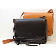 Italská kožená klopová kabelka černá nebo camel BR526