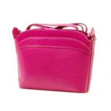 Italské kabelky kožené etue růžová BR502 Crossbody kabelky