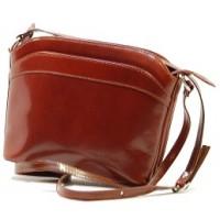 Italské kabelky kožené etue tmavě hnědá BR502