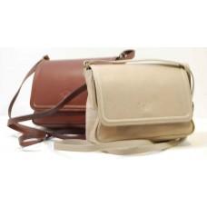 Italské kabelky malé kůže béžová BR527 Crossbody kabelky