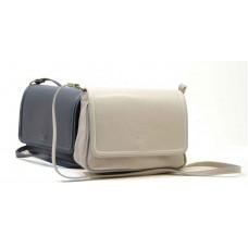 Italské kabelky malé kůže tmavě modrá BR527 Crossbody kabelky