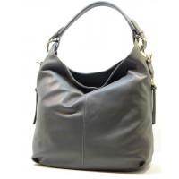 Kožená italská luxusní kabelka šedá BR516