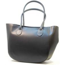 Kožená italská luxusní zaoblená kabelka matný lesk hladká čená BR539