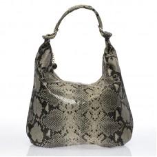 Italská dámská kabelka kožená šedá hadí vzor BR722 905d085d891