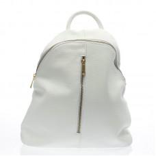 Italský ruksak kožený trendy design bílý BR725 Baťůžky