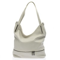 Italská dámská kožená kabelka bílá na rameno BR727 Přes rameno