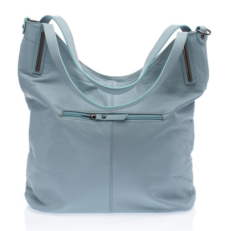 ... Italská dámská kožená kabelka kovově modrá na rameno BR727 Přes rameno  ... 59b46faaa2f
