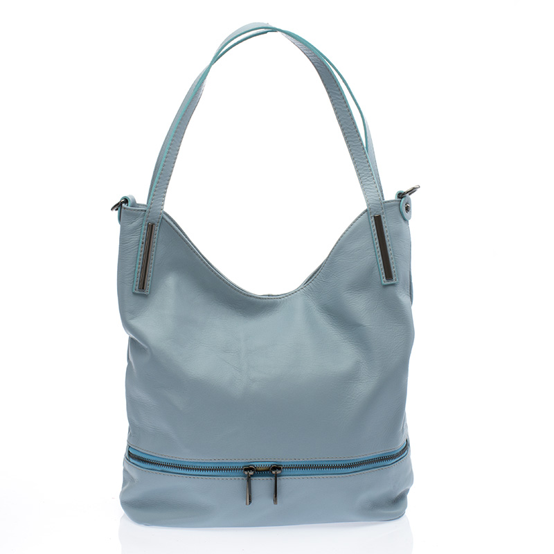 Italská dámská kožená kabelka kovově modrá na rameno BR727 4ccd374eadb