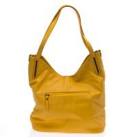 Italská dámská kožená kabelka žlutá na rameno BR727