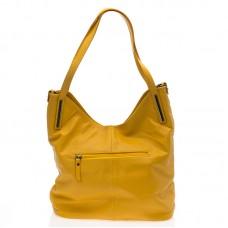 Italská dámská kožená kabelka žlutá na rameno BR727 Přes rameno