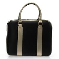 Italská dámská luxusní business kabelka kožená černá  BR729
