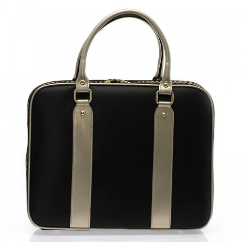 Italská dámská luxusní business kabelka kožená černá  BR729 Kabelky do ruky