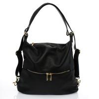 Italská dámská kabelka kožená černá BR733