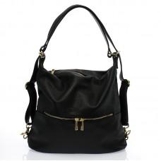 70e6b623df21 Italská dámská kabelka kožená černá BR733