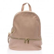 Italský ruksak kožený růžový pudr BR734 Baťůžky