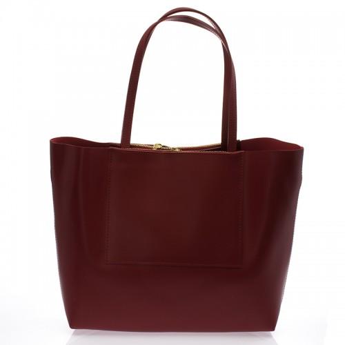 Italská dámská kabelka kožená červená bordó BR735 Přes rameno