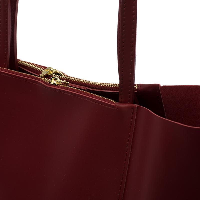 583b2c35e7 ... Italská dámská kabelka kožená červená bordó BR735 Přes rameno