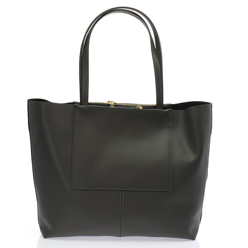 0554d8d07af0 Italská dámská kabelka kožená tmavě šedá BR735