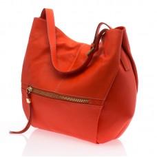 Italská dámská kožená kabelka oranžová na rameno BR703 deb722b87f9