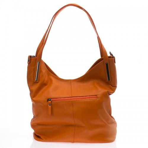 Italská dámská kožená kabelka oranžová na rameno BR727 Přes rameno