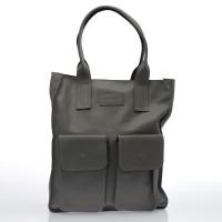 Italská dámská kožená kabelka šedá do ruky BR712
