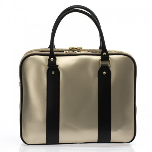 Italská dámská luxusní kabelka kožená zlatá  BR729 Kabelky do ruky