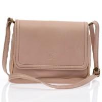 Italská kožená tělově růžová kabelka BR527 Crossbody kabelky