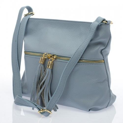 Malá italská dámská kabelka ocelově modrá BR731 Malé kabelky