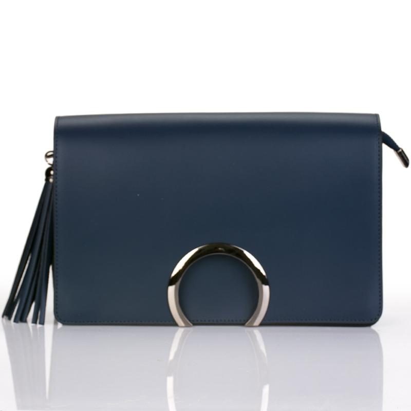 Italská kabelka tmavě modrá listonoška lakovaná BR803 19b025046ed