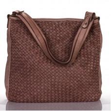 Italská dámská kožená kabelka pudr sauvage BR915 bbb3df3dff1