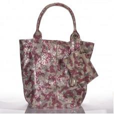 Italská dámská kožená kabelka potisk květy a BR923 1eff6a32a1f