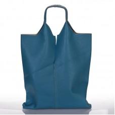 0bcae32ac179 Italská dámská kožená kabelka světle modrá na rameno BR926
