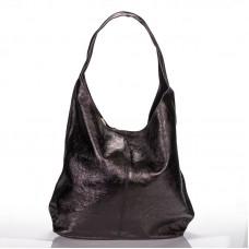 Italská dámská kožená kabelka černá na rameno BR928 c009bf9d702