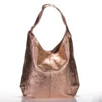 Italská dámská kožená kabelka zlatá na rameno BR928