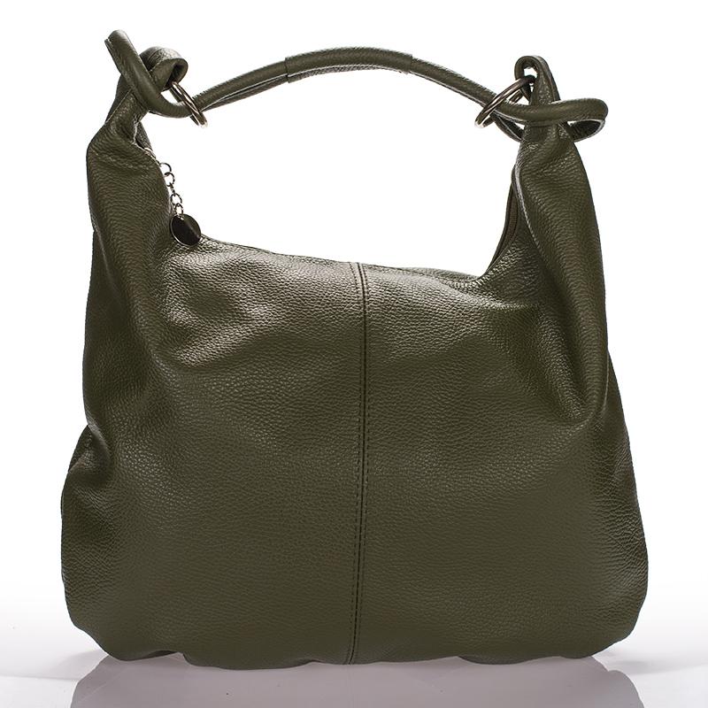 Italská dámská kožená kabelka zelená tmavě na rameno BR722B 418adb1bc16