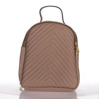 Kožený batoh italský trendy design tmavě béžový pudr BR912 26554dc44f