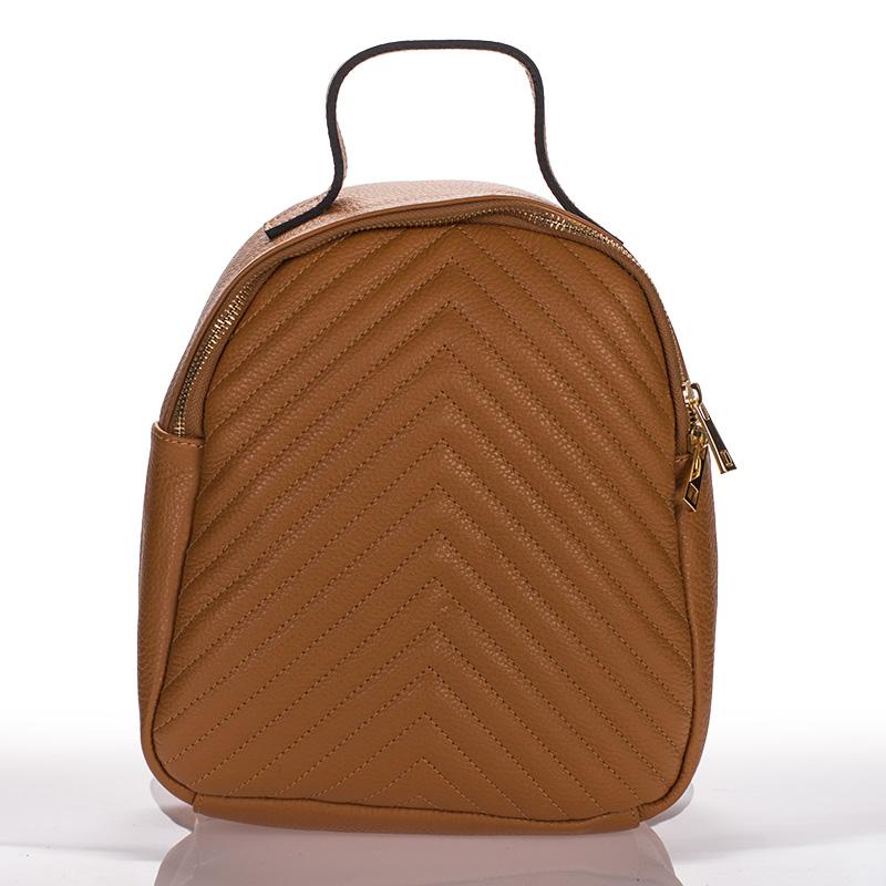 Kožený batoh italský trendy design camel BR912 a7827db582