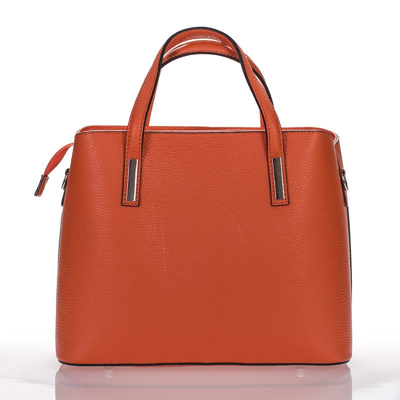0efba2595 Italská dámská kožená kabelka oranžová do ruky BR924