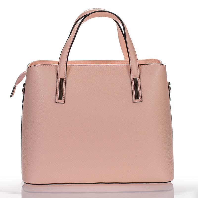 3fd036cbb Italská dámská kožená kabelka růžová do ruky BR924