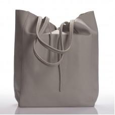 Italská dámská kožená kabelka šedá světle na rameno BR901 e6cc10f36de