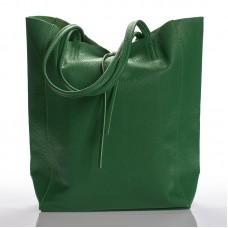 Italská dámská kožená kabelka zelená na rameno BR901 26c470bf617