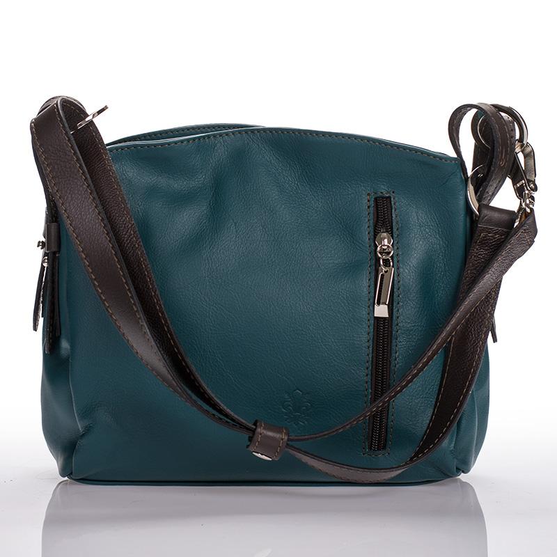 Italská dámská kožená kabelka zelená sauvage teletina BR902 d682726d61b