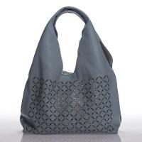 Italská dámská kožená kabelka světle modrá na rameno s prosekem BR907