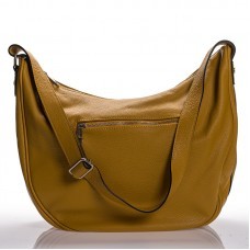 Italská dámská kožená kabelka okrová na rameno BR908 43c36d7cf7c