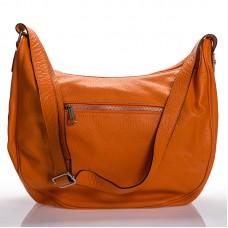 Italská dámská kožená kabelka oranžová na rameno BR908 64d64a9e380