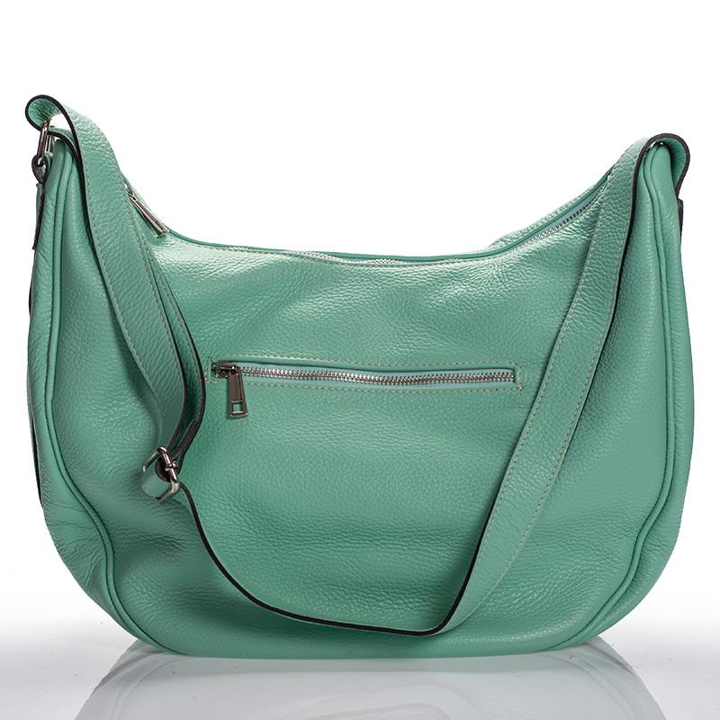 Italská dámská kožená kabelka zelená světle na rameno BR908 6782c4d7b26