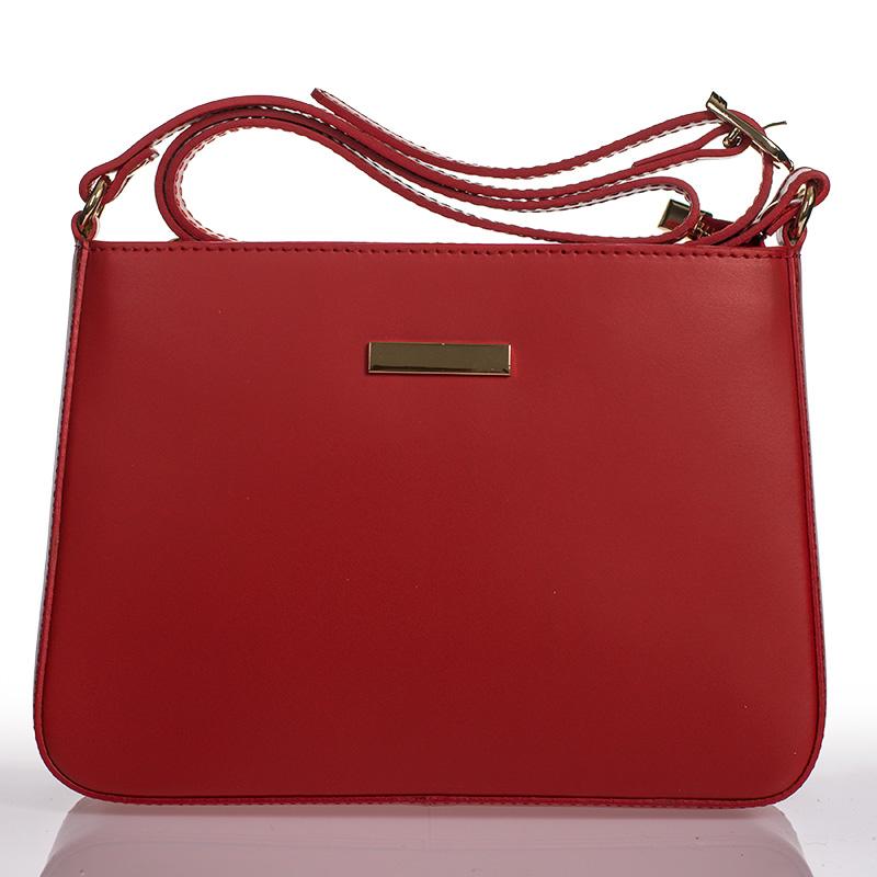 Italská dámská kožená kabelka červená crossbody lakovaná BR910 8e769925da0